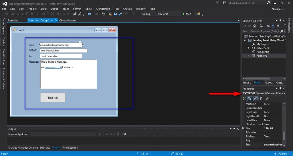 Desain Form Mengirim Email Dengan Visual Basic