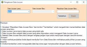Form Data Jurusan