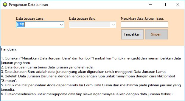 Form Data Jurusan