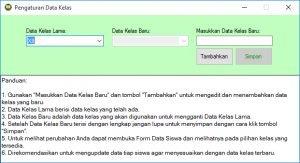 Form Data Kelas