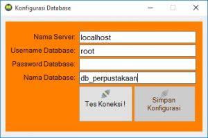 Form Konfigurasi Database