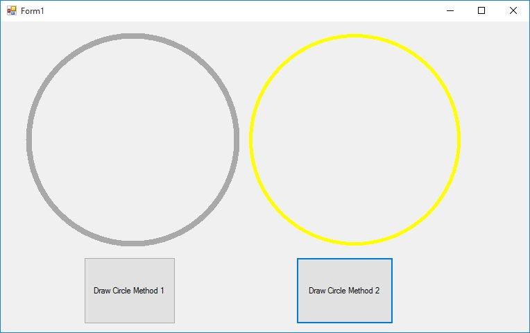 Membuat Lingkaran di Visual Basic.NET