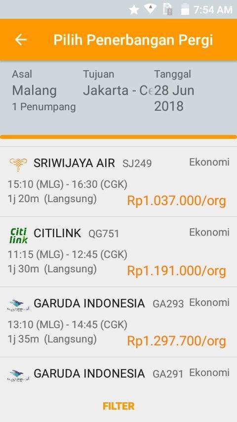 Contoh Pesan Tiket Penerbangan PayTren