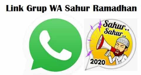 Link Grup WA Sahur
