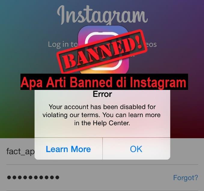 Apa Arti Banned di Instagram