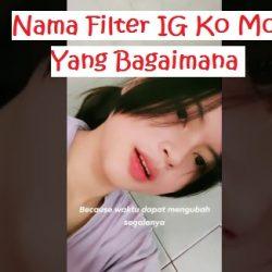 Nama Filter IG Ko Mo Cari Yang Bagaimana