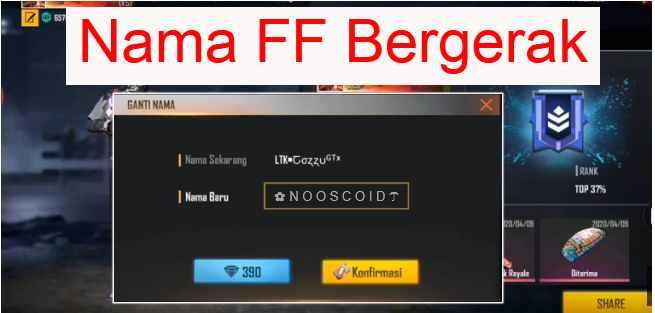 Nama FF Bergerak