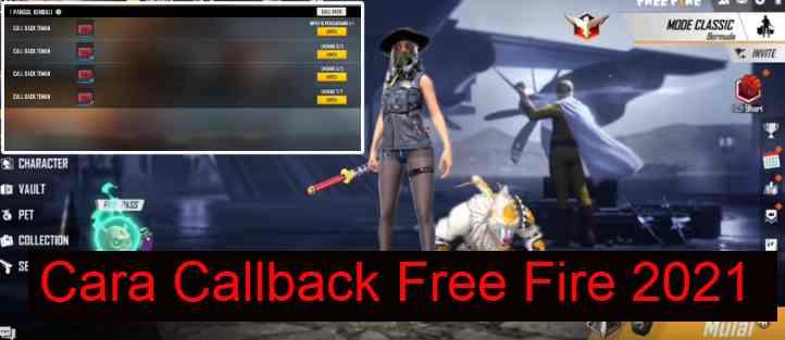 Cara Callback Free Fire
