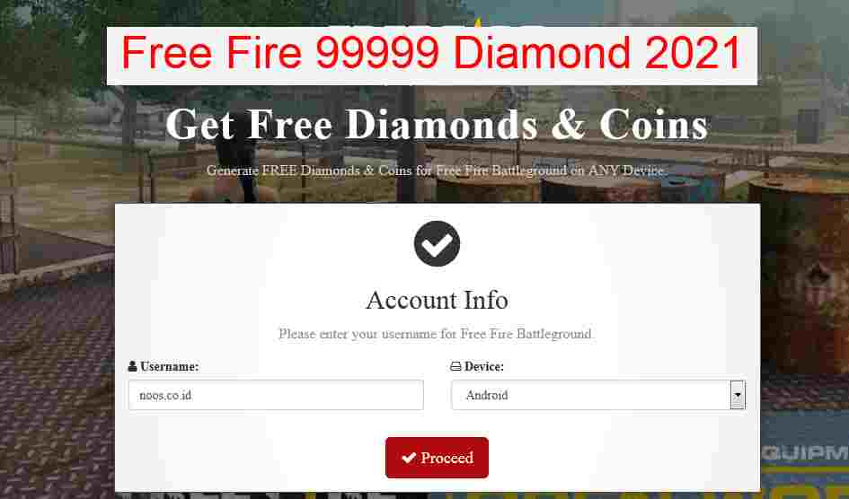 Free Fire 99999 Diamond 2021